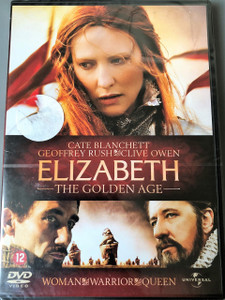 Elizabeth - The golden age DVD 2007 / Directed by Shekhar Kapur / Cate Blanchett as Queen Elizabeth I / Geoffrey Rush as Francis Walsingham / Clive Owen as Sir Walter Raleigh / Abbie Cornish as Bess Throckmorton