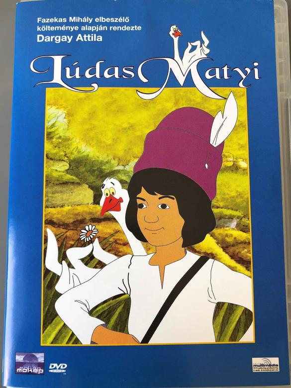 Lúdas Matyi DVD (1977) / Mattie The Gooseboy / with ENGLISH and HUNGARIAN Audio options / Director: Dargay Attila / Hungarian Cartoon / Magyar mesefilm Magyarorszag / Író: Fazekas Mihály / Playtime 75 minutes (5996357340782)