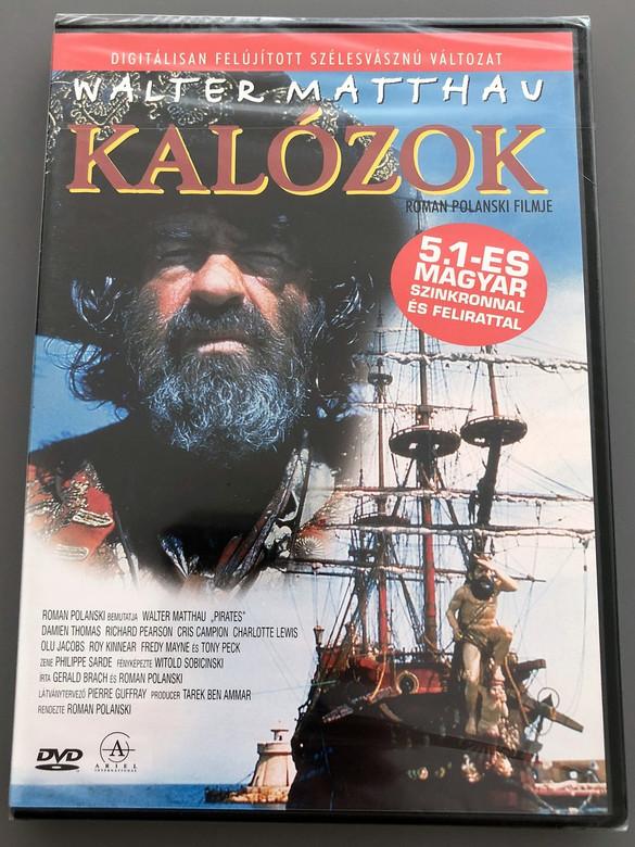 Pirates 1986 DVD Kalózok / Roman Polanski Film / Walter Matthau, Cris Campion, Damien Thomas / ENGLISH and HUNGARIAN Audio / Hungarian Subtitles [European DVD Region 2 PAL] (5999881067842)