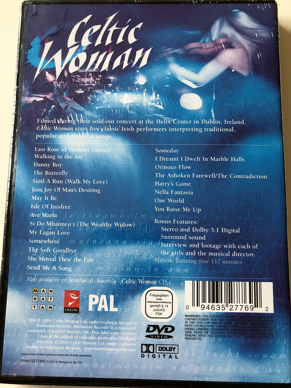 Celtic Woman DVD Filmed Live, Concert at the Helix Center in Dublin,  Ireland / Irish musical ensemble conceived and created by David Kavanagh /  REGION