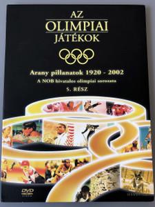 The Olympic Games - Golden Moments 1920-2002 PART 5 - 79 minute playtime / Az olimpiai játékok 5. rész - Arany pillanatok 1920-2002 DVD / A NOB hivatalos olimpiai sorozata / Budapest Film / Olympic Highlights of Excellence (5999544250437)