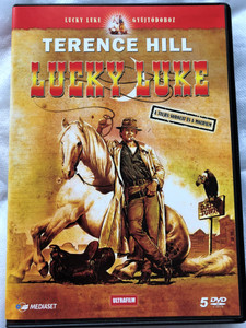 LUCKY LUKE / 5 DVD SPECIAL COLLECTOR'S EDITION / REGION 2 PAL / AUDIO: ENGLISH, HUNGARIAN / SUBTITLE: HUNGARIAN, ROMANIAN / DIRECTOR: TERENCE HILL, TED NICOLAOU (5999882817316)