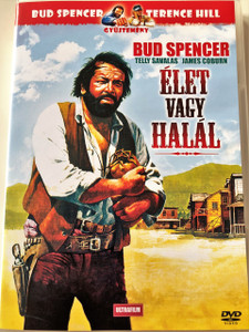 Élet vagy halál DVD 1972 (Una ragione per vivere e una per morire) / A Reason to Live, a Reason to Die! / Audio: Hungarian and English / Subtitle: Hungarian / Főszerepben: Bud Spencer, James Coburn and Telly Savalas / Rendező: Tonino Valerii (5999882817675)