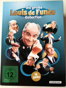 The BIG Louis de Funès DVD BOX / Die große Louis de Funès Collection 16 DVDs / Audio Options:  French or German / Subtitle: German
