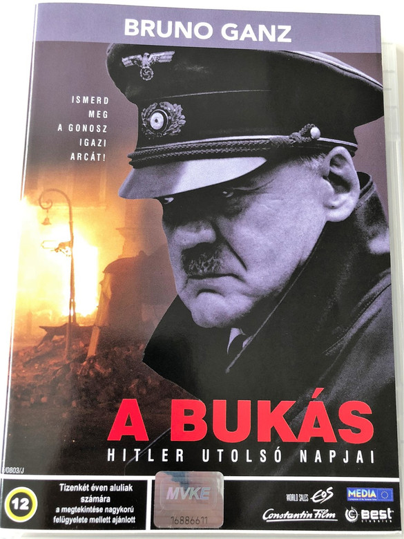 A bukás – Hitler utolsó napjai (Der Untergang) DVD 2004 / Downfall / Audio: Hungarian and German / Subtitle: Hungarian and German / Starring: Bruno Ganz, Alexandra Maria Lara, Corinna Harfouch and Ulrich Matthes / Directed by: Oliver Hirschbiegel (5998133159137)