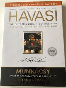 Havasi Balázs: Ecset és Zongora - Musical Tribute to Hungarian Genius Painter Munkácsy Mihály / Exclusive DVD+CD / HUNGARIAN Audio with English Subtitles / Zenei tisztelgés a magyar festőgéniusz előtt (5998618405230)