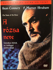 The Name of the Rose DVD 1986 A rózsa neve / Mystery historical drama film 2 DVD Collector's Version / Directed by Jean-Jacques Annaud / Umberto Eco / Starring: Sean Connery, Christian Slater, Helmut Qualtinger, Elya Baskin, Michael Lonsdale