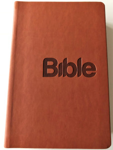 Czech Moderen Bible / Brown Imitation Leather Cover / Bible, překlad 21. století, hnědá