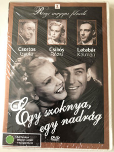 Egy szoknya, egy nadrág 1943 DVD / One Skirt, One Pants / Old Hungarian Films 3 / Black & White / HUNGARIAN ONLY Audio
