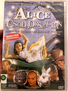 Alice in Wonderland DVD 1999 Alice Csodaországban *Film változat* / Director: Nick Willing / Starring: Robbie Coltrane, Whoopi Goldberg, Ben Kingsley, Christopher Lloyd, Gene Wilder, Martin Short