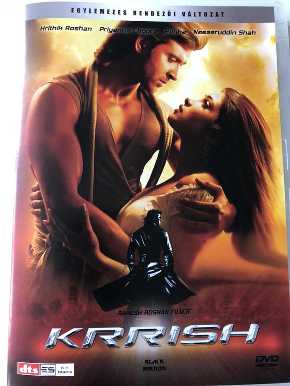 Krrish DVD 2006 / Directed by Rakesh Roshan / Starring: Hrithik Roshan, Priyanka Chopra, Naseeruddin Shah, Rekha (5999882942728)