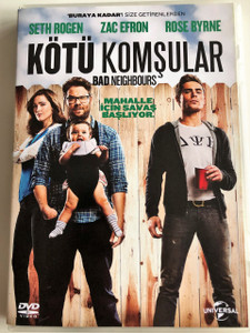 KÖTÜ KOMŞULAR DVD 2014 Bad Neighbors / Directed by Nicholas Stoller / Starring: Seth Rogen, Zac Efron, Rose Byrne, Christopher Mintz-Plasse, Dave Franco, Lisa Kudrow
