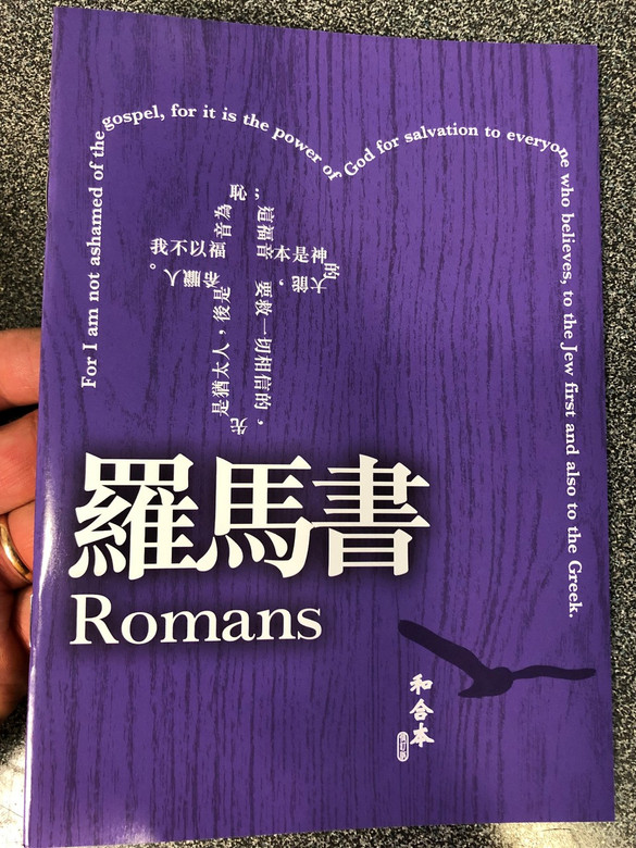 Paul's letter to the Romans in Chinese Language SUPER LARGE PRINT Edition / Revised Chinese Union Version CU2010 HKBS (9789622936614)