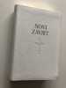 Novi Zavjet / The New Testament in Croatian Language / Leather Bound / White / Golden Edges / HBD 2017 / Translated from Greek texts by Lj. Rupčić (9789536709380w)