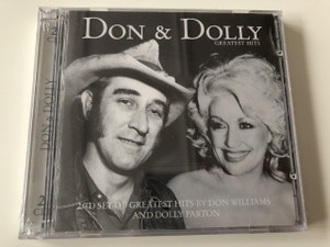 Don & Dolly Greater Hits / 2 CD Set of Greatest Hits by Don Williams and Dolly Parton / Audio CD 2007 / Famous Country Music