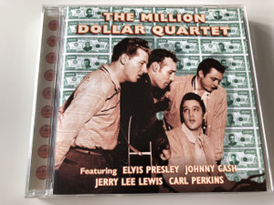 The Million Dollar Quartet / Audio CD 1956 / Elvis Presley, Jerry Lee Lewis, Carl Perkins, and Johnny Cash /  Rock & Roll Classic Music