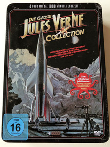 Die Grosse Jules Verne Collection / The Big Jules Verne DVD Movie Collection in German language / DVD 2017 / 4 discs with almost 1000 minute runtime / Aluminium DVD case (4051238061031)