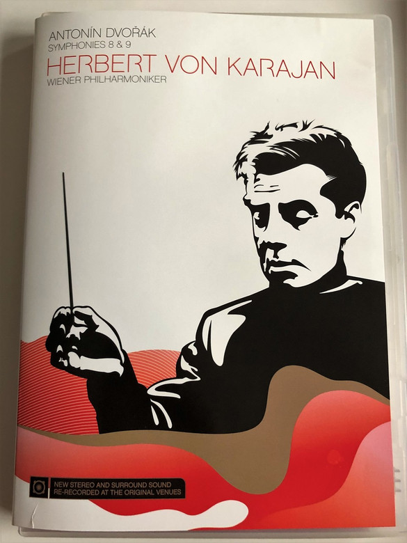 Antonín Dvořák / Symphonies 8 & 9 / DVD 2014 / Herbert Von Karajan / Wiener Philharmoniker / New Stereo And Surround Sound / Sony Classical (886972322896)
