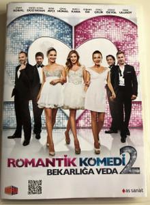 Romantik Komedi 2 Bekarliğa Veda DVD 2013 Romantic Comedy 2 Farewell Bachelorette / Directed by Erol Özlevi / Starring: Engin Altan Düzyatan, Sinem Kobal, Sedef Avcı, Gürgen Öz, Cemal Hünal (8698907300990)