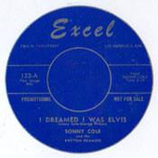 SONNY COLE - I DREAMED I WAS ELVIS