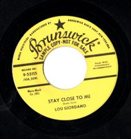 LOU GIORDANO - STAY CLOSE TO ME