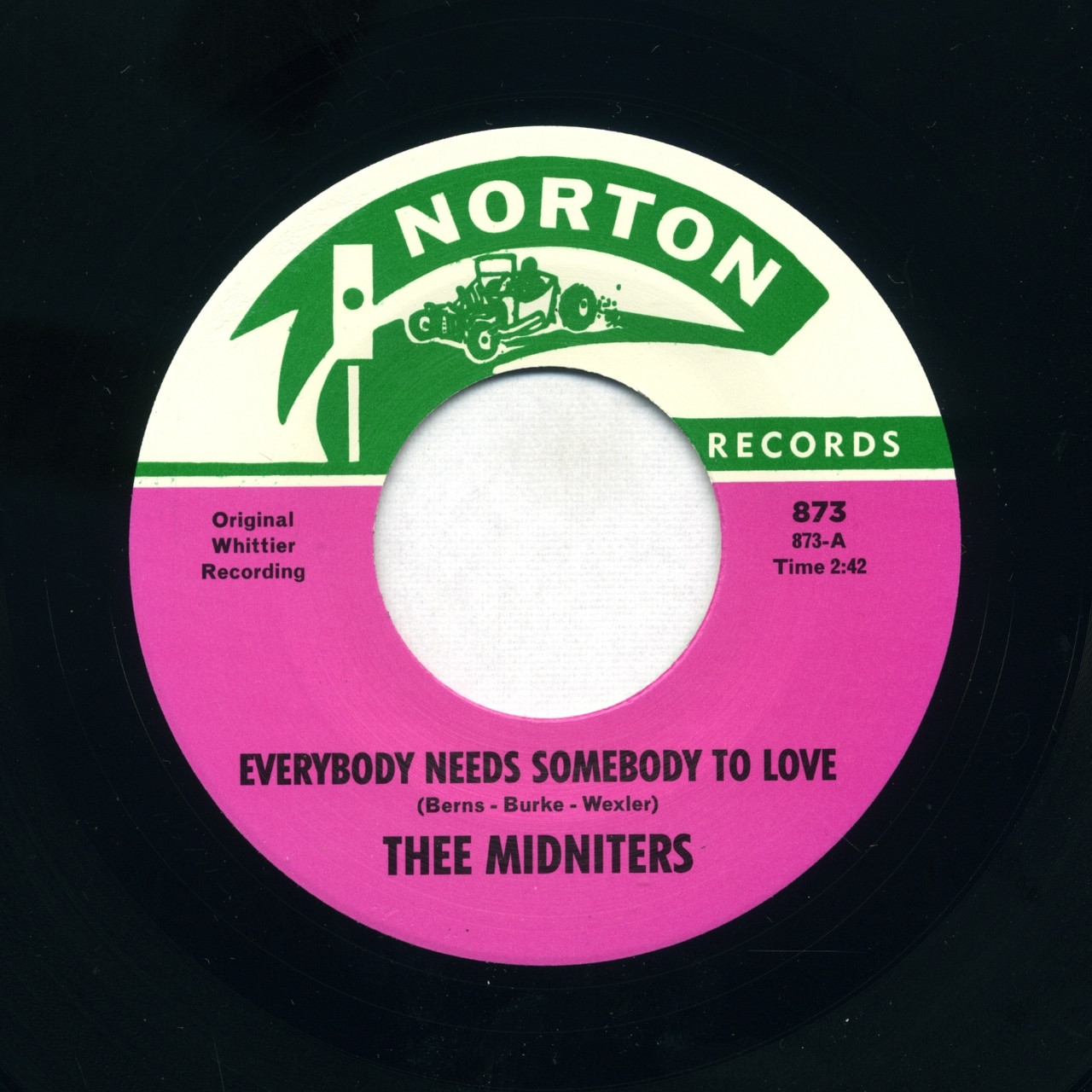 873 THEE MIDNITERS - EVERYBODY NEEDS SOMEBODY TO LOVE / NEVER KNEW I HAD IT  SO BAD (873)