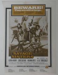 SAVAGE SISTERS AD (Box Office Aug 1974)