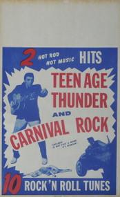 CARNIVAL ROCK POSTER (ORIG) 1957