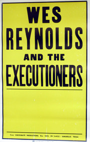 WES REYNOLDS & THE EXECUTIONERS POSTER - 2