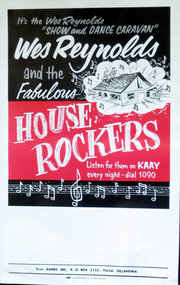 WES REYNOLDS & THE HOUSEROCKERS POSTER (orig)