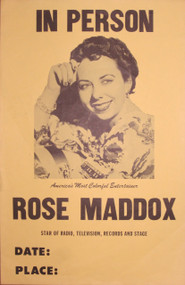 ROSE MADDOX IN PERSON ORIG POSTER