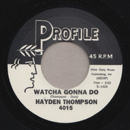 HAYDEN THOMPSON - WHATCHA GONNA DO