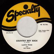 LLOYD PRICE - COUNTRY BOY ROCK