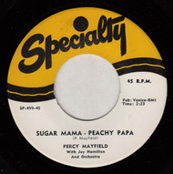 PERCY MAYFIELD - SUGAR MAMA - PEACHY PAPA (REPRO)