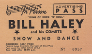 BILL HALEY ADVERTISING PASS TICKET