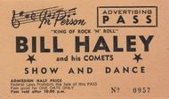 BILL HALEY ADVERTISING PASS TICKET