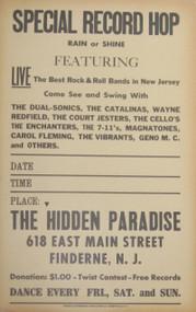 SPECIAL RECORD HOP FINDERNE, N.J.