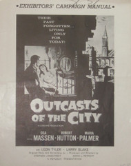 OUTCASTS OF THE CITY PRESSBOOK