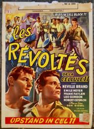 RIOT IN CELLBLOCK 11 Belgian movie poster