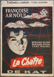 LA CHATTE Françoise Arnoul Belgian movie poster (orig)