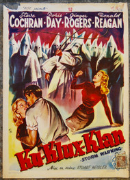 STORM WARNING RONALD REAGAN Belgian movie poster (orig) KKK