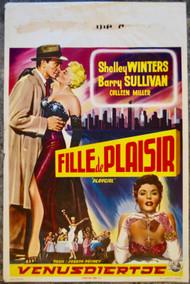 PLAYGIRL SHELLEY WINTERS Belgian movie poster (orig)