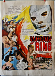 CAMPEONES DEL RING Mexican wrestling movie poster (orig)