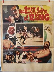 UNA ROSA SOBRE EL RING Mexican wrestling movie poster (orig)