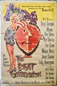 THE BEAT GENERATION MAMIE VAN DOREN movie poster (orig)