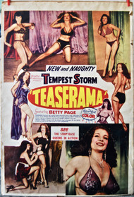 TEASERAMA BETTY PAGE TEMPEST STORM movie poster (orig)