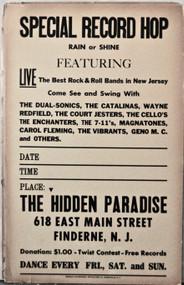 HIDDEN PARADISE POSTER Finderne, NJ (orig)