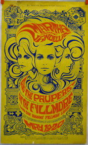 MARTHA & THE VANDELLAS  THE PAUPERS FILLMORE poster (orig)