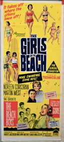 THE GIRLS ON THE BEACH MOVIE POSTER (orig) Australia