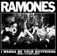 065 RAMONES - LTD CLEAR RED - I WANNA BE YOUR BOYFRIEND / JUDY IS A PUNK (clear red)